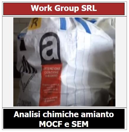 Analisi chimica amianto MOCF e SEM