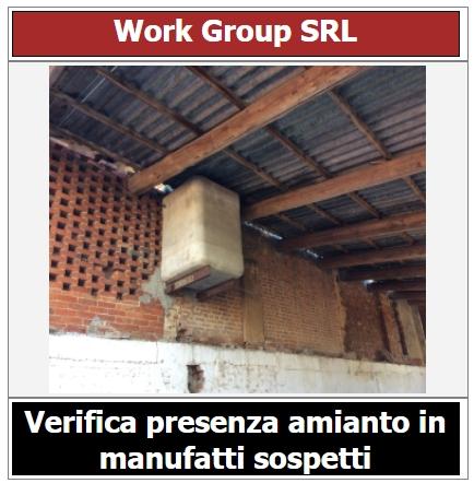 Verificare presenza amianto in manufatti sospetti