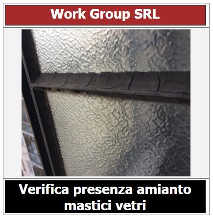 Presenza amianto nei mastici dei vetri